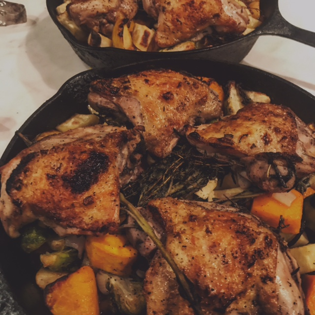 Roasted Chicken Thighs